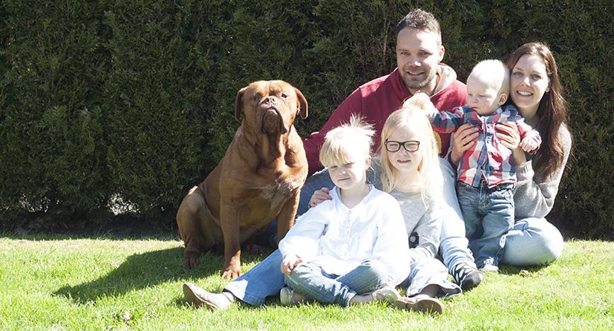 familieportret buiten